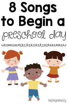 8 Songs to Begin a Preschool Day - free printable song posters! A fun way to start the day with preschoolers. 8 Songs to Begin a Preschool Day - free printable song posters! A fun way to start the Kindergarten Songs, Preschool Songs, Preschool At Home, Preschool Lessons, Preschool Learning, Kids Songs, Preschool Activities, Preschool Circle Time Songs, Preschool Movement Songs