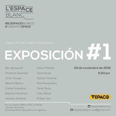 Exposición #1 L´Espace Blanc, 23112016
