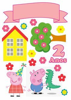 Peppa Pig is usually a British preschool cartoon television set set aimed along with made Bolo Da Peppa Pig, Cumple Peppa Pig, Peppa Pig Happy Birthday, Pig Birthday Cakes, Pig Png, Peppa Pig House, Pig Party, Scrapbooking Layouts, Party Supplies