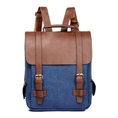 canvas pu backpack men women school bags for girl boy Vintage solid Patchwork back pack male Casual bagpack Mochila From Touchy Style Outfit Accessories ( Black ) Black Backpack School, Leather School Backpack, Vintage Leather Backpack, Men's Backpack, Canvas Backpack, Fashion Backpack, Backpack Outfit, Retro Backpack, Vintage Backpacks