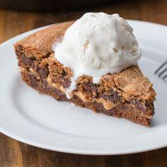 Peanut Butter-Stuffed Skillet Cookie Recipe by Tasty
