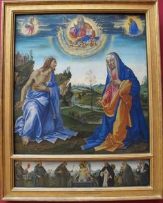 Filippino Lippi (1457 - 1504) - Apparition of Christ to the Virgin. The Intervention of Christ and Mary
