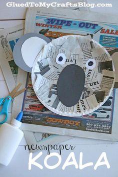 Newspaper Koala - Kid Craft                                                                                                                                                                                 More