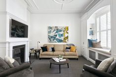 Breathtaking transformation of double fronted freestanding Victorian residence by Kirsty Ristevski - CAANdesign Decor Home Living Room, Living Room Colors, Living Room Modern, Living Room Designs, Home Decor, Living Rooms, Living Spaces, Modern Victorian Homes, Victorian House