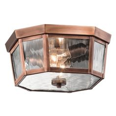 Traditional design gets a clean updated twist with this 2 light outdoor ceiling fixture from the Rochdale collection. The Antique Copper tapered design stands tall and elongated giving the vertical rain glass a chance to dazzle. Ceiling Fixtures, Led Outdoor Lighting, Light, Lighting, Ceiling, Buy Lights, Kichler Lighting, Led Outdoor Lighting Fixtures, Ceiling Lights
