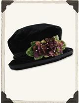 Hat w/ violets - Victorian Trading Company
