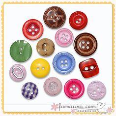 Buttons Collection 2011 nº23 by Fa Maura [FaMaura_MixedButtonsColoridos] - $3.00 : FaMaura.com - scrapshop