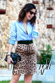 blogger | inspiration | camila coutinho | garotas estupidas | leopard print | leopard skirt | look | moda | fashion | tip | how to wear | doce trama | www.docetrama.com.br/blog