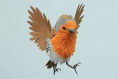 'paper bird sculptures' by diana beltran herrera.