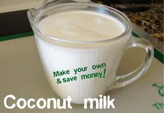 how to make coconut milk at home with Thermomix. Cook and strain coconut twice to get about of milk (plus cream). And use leftover pulp for coconut apricot slice :) Tip: Use desiccated coconut or whizz up shredded coconut before adding water. Cooking With Coconut Milk, Make Coconut Milk, Coconut Milk Recipes, Coconut Cream, Dry Coconut, Vitamix Recipes, Paleo Recipes, Cooking Tips, Cooking Recipes