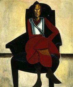 Seated Figure - Wyndham Lewis