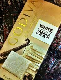 godiva white chocolate vanilla bean bar White Chocolate, Vanilla, Triangle, Bar