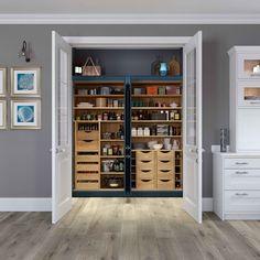 Classic Shaker Kitchen Ashbourne - Innovative Pantry Storage Stystem in Portland Oak