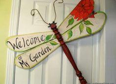 Table Leg Dragonfly Wall or Garden Art sign by LucyDesignsonline, - Recycled Garden - Garden Crafts, Garden Projects, Garden Art, Garden Table, Garden Ideas, Garden Totems, Fence Garden, Garden Whimsy, Garden Junk