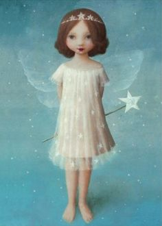 Stephen Mackey - Fairy With Wand (464x650)