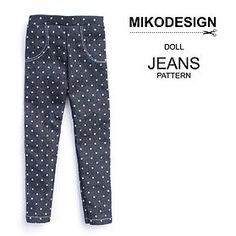 free doll jeans pattern mikodesign | PATTERNS & TUTORIALS