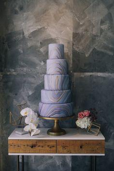 Stunning cake by Classic Bakery | Styled Misty Copeland Wedding Inspiration