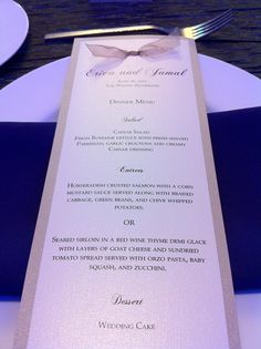 champagne menu card
