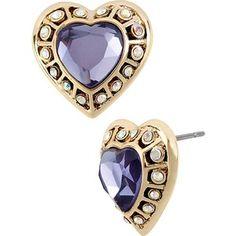 Betsy Johnson Imperial Purple Heart earring Arrow Soul by ALG  https://www.arrowsoulbyalg.com/newarrivals/betsy-johnson-imperial-purple-heart-earring