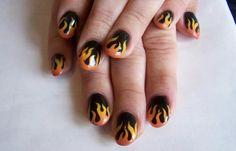 Diseños de uñas pinceladas manos y pies, diseño de uñas pinceladas sencillos. Clic Follow, Únete al CLUB, síguenos! #manicuras #acrylicnails #uñasfinas