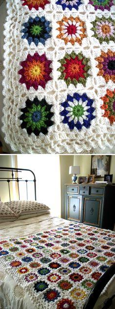 . . . .   ღTrish W ~ http://www.pinterest.com/trishw/  . . . .  #crochet #afghan #throw