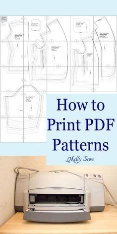 How to Print PDF Sewing Patterns - Melly Sews                                                                                                                                                                                 More