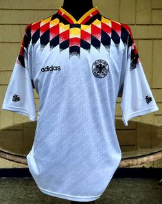 GERMANY 1994 WORLD CUP QUARTER FINALS HOME JERSEY ADIDAS SHIRT TRIKOT EXTRA LARGE Germany Kit, Vintage Jerseys, Adidas Shirt, Football Jerseys, World Cup, Finals, Soccer, Tees, Classic