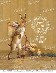 Easter bunny design from the early 1900s  in by VintageHolidayShop, $2.99
