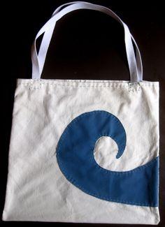 Upcycled Handmade Beach Bag - Nalu Nui - Big Wave - by LindseysBeachGlass, $25.00