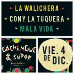 #Cachengueysudor en La Previa!!!  A bailar cumbia... + info https://www.facebook.com/events/738301519648974/
