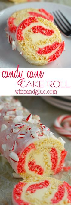 Candy Cane Cake Roll| | A gorgeous and delicious cake for Christmas time!