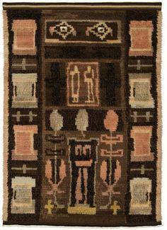 Eva Brummer   The Luonnos: Sketch   ryijy: rya   wool + cotton   118 cm x 168 cm   Finland   c. 1932-'33