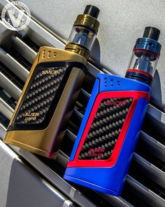 New Arrivals! Hurry on over to the EVCigarettes website to claim one of these new exclusive colorways that we just got in for the Smok Alien Box Kit. We have them in Gold/Black or Blue/Red with matching TFV8 Baby Beast Atomizers, but both of these eye-catching finishes are in short supply, so don't waste any time. Order your exclusive Alien Box Kit at EVCigarettes today! #EVCigarettes #vape #ecig #vapor #vapers #vaping #vapelife #vapelyfe #vapelove #vapenation #vapecommunity #vapehooligan...