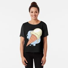 Vanilla Ice Cream, Chiffon Tops, Classic T Shirts, Printed, Awesome, Cotton, Mens Tops, Products, Women