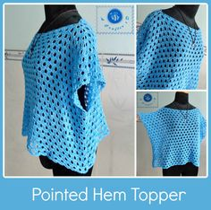 Sky Blue Crochet Top Pattern / FREE CROCHET pattern/ XL