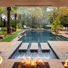 Swimmingpool Landscaping Ideas For a Small Backyard - a Minimalist on a Tiny Page? Swimmingpool Landscaping Ideas For a Small Backyard - a Minimalist on a Tiny Page? Check out ! Surely it would be very nice to have a swimming pool at home. Backyard Pool Designs, Backyard Patio, Backyard Landscaping, Landscaping Ideas, Backyard With Pool, Cool Backyard Ideas, Backyard Layout, Luxury Landscaping, Backyard Paradise