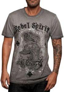Rebel Spirit Royalty T-Shirt (Gray)