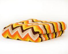 Vintage chrochet afghan. My grandma loved making these for us.