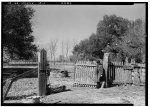 13.  Historic American Buildings Survey Lester Jones, Photographer February 26, 1940 REAR GATE - Homeplace Plantation, River Road, Hahnville, St. Charles Parish, LA