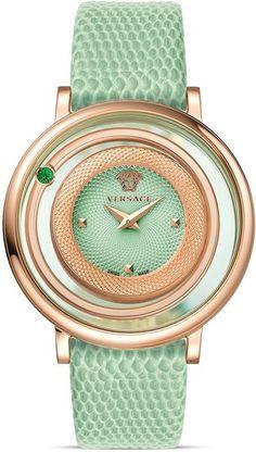 Mint green Versace watch