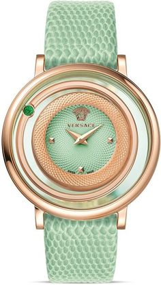 Mint green Versace watch