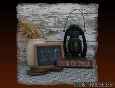 Trick or Treat Mini Halloween Fall Primitive by Smokehouse1856, $12.00