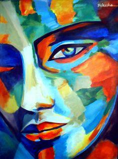 "Saatchi Online Artist: Helena Wierzbicki; Acrylic, 2013, Painting """"Divine Consciousness"""""