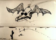 Fear and Loathing Gonzo Bat Ralph Steadman 23x32 Poster
