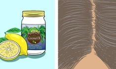 Hair Remedies Mix lemon and coconut oil together – It returns grey hair back to its natural color - This natural way to fight gray hair just works. Coconut Oil Hair Treatment, Coconut Oil Hair Growth, Coconut Oil Hair Mask, Coconut Oil For Skin, Lemon Coconut, Natural Coconut Oil, Coconut Oil Uses, Organic Coconut Oil, Grey Hair Remedies