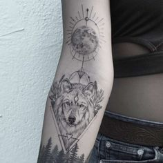 60 Amazing Wolf Tattoos - the best you& ever see - Wölfe tattoo - Wolf Sleeve, Wolf Tattoo Sleeve, Sleeve Tattoos, Tribal Sleeve, Wolf Tattoo Forearm, Wolf And Moon Tattoo, Tattoo Wolf, White Wolf Tattoo, Husky Tattoo