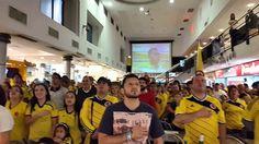 Así se cantó el Himno Nacional de Colombia en el Shopping Villa Morra