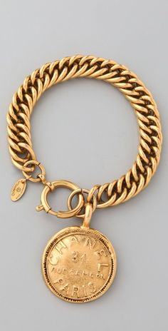 WGACA Vintage Vintage Chanel Paris Charm Bracelet