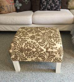 DIY Ottoman Coffee Table Ikea Hack How to turn a plain old end table into a stylish ottoman apurdylittlehouse.com