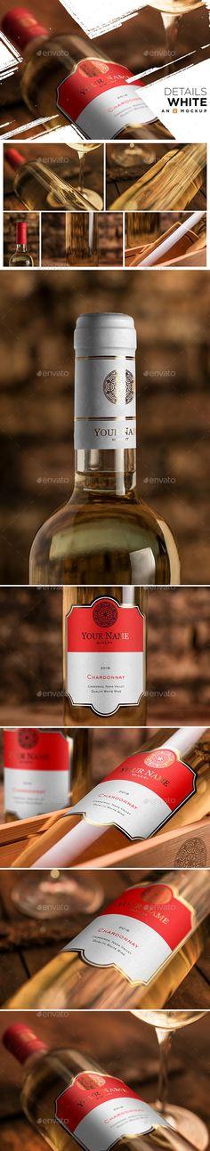 Details Wine Mockup - Bordeaux White